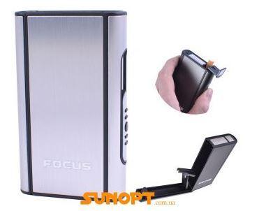 Портсигар с выбросом сигарет (10 шт) №XT-4937 Silver