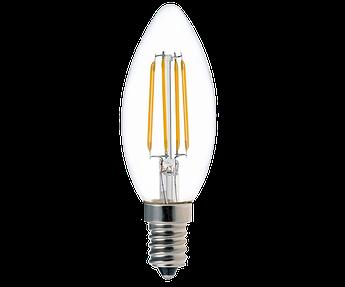 Светодиодная лампа Ledex  filament С37-4W-E14-380lm-4000K-(LX-102079)