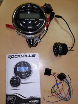 Магнитофон для лодки ROCKVILLE RGHR2 120359 (морская серия)