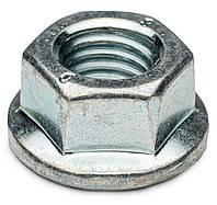 Гайка фланцевая зубчатая М10 DIN 6923 класс прочности 8 оцинкованная