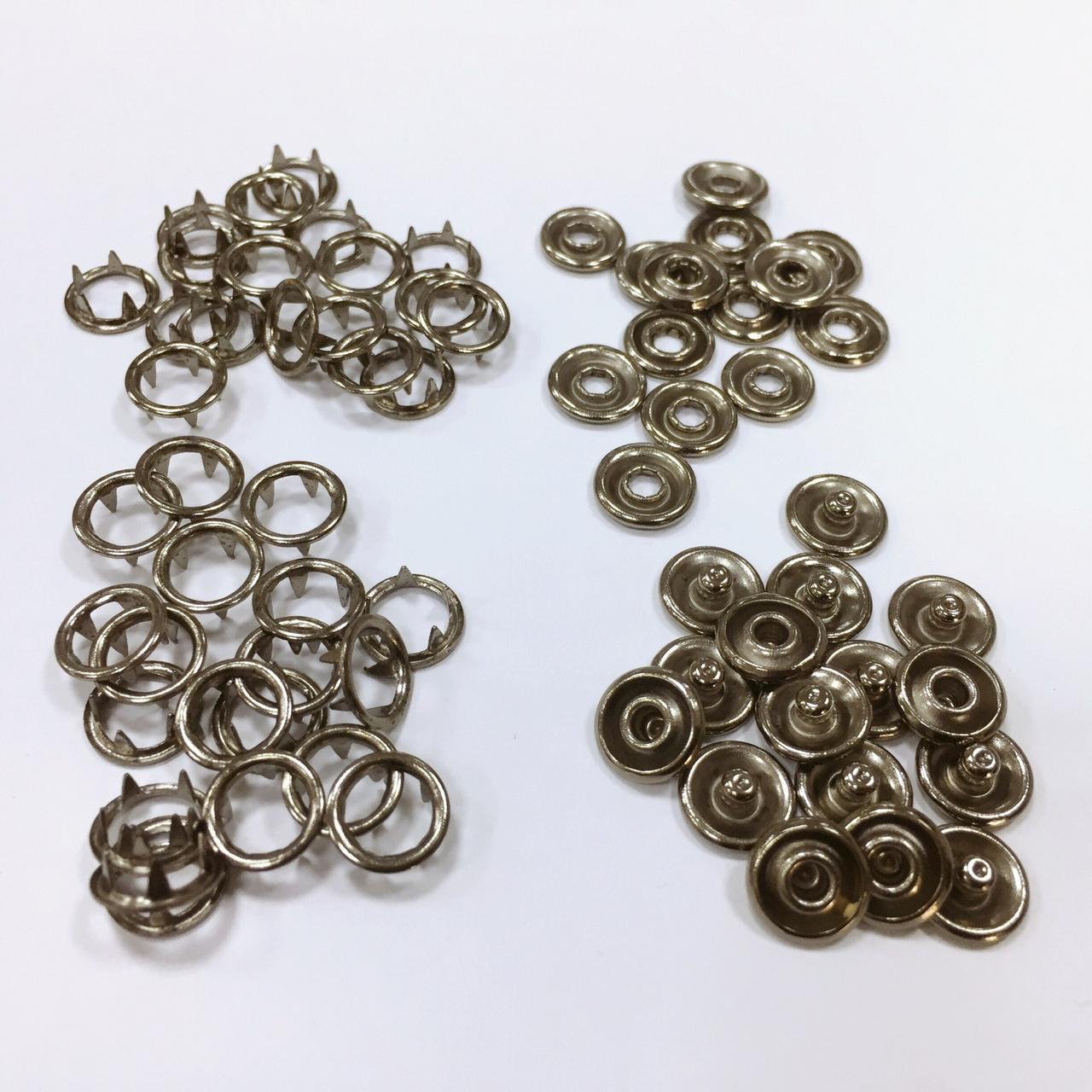Кнопка с шипами д/детск одежды 9,5 мм цв черный никель (уп 144шт) МН