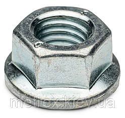 Фланцева Гайка зубчаста М14 DIN 6923 клас міцності 8 оцинкована