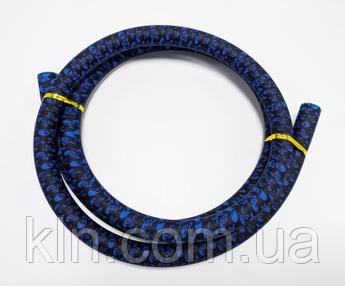 Силиконовый шланг череп без мундштука (синий)