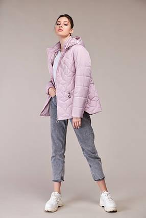 Модна коротка куртка демісезонна Великі розміри осіння 48,50,52,54,56,58,60, фото 2