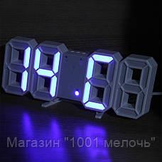 Часы настольные LY 1089 Синие, фото 2
