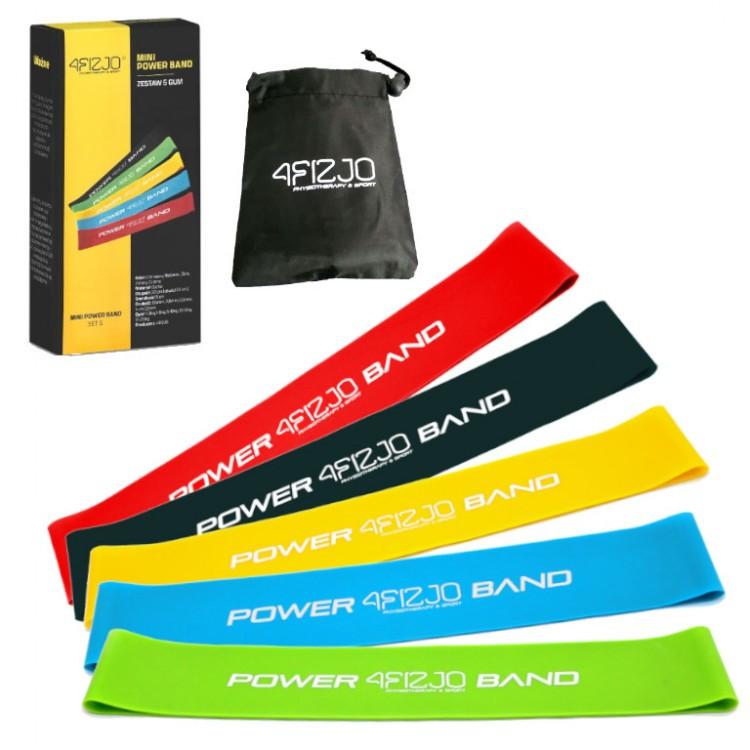 Фитнес-ленты для фитнеса, спорта и тренирвок (лента-эспандер) 4FIZJO Mini Power Band 5 шт 1-20 кг (4FJ1110)