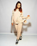 Женский стильный спортивный костюм свободного фасона трикотаж двухнить размер: 48-50, 52-54, 56, фото 4