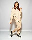 Женский стильный спортивный костюм свободного фасона трикотаж двухнить размер: 48-50, 52-54, 56, фото 5