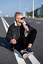 Мужская джинсовая куртка с мехом, Black, фото 7