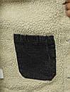 Мужская джинсовая куртка с мехом, Black, фото 9
