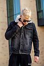 Мужская джинсовая куртка с мехом, Black, фото 6