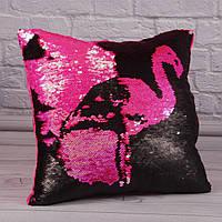 Мягкая игрушка подушка Фламинго, детская подушка 33 см.