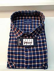 Теплая кашемировая батальная рубашка Brossard - 7945