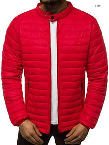 Чоловіча куртка без капюшона, демисезон, Red