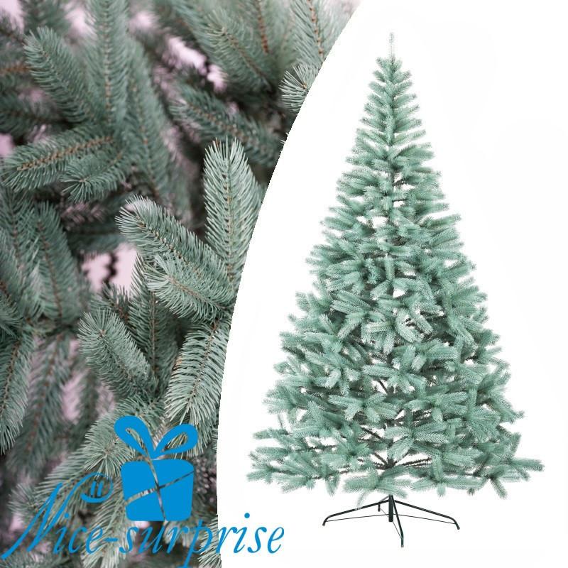 Искусственная новогодняя литая голубая ель БУКОВЕЛЬСКАЯ 210 см