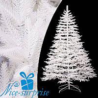 Новогодняя белая литая искусственная елка АЛЬПИЙСКАЯ 210 см, фото 1