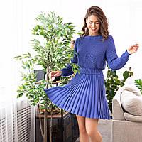 Женский укороченный свитер из 100% хлопка, внизу на манжете (р. 42-46) 6104911, фото 1