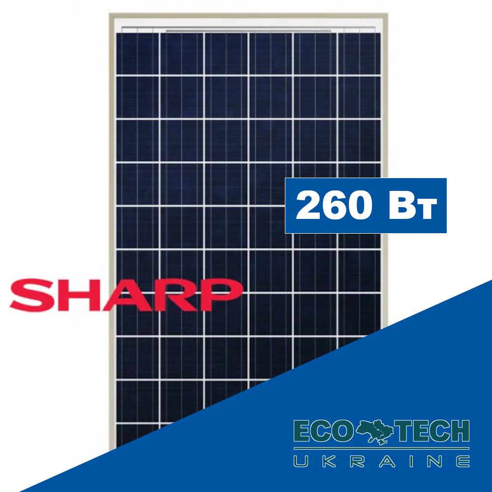 Sharp ND-RC260 солнечная панель (батарея) поликристалл 260 Вт