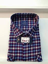 Теплая кашемировая батальная рубашка Brossard - 7943