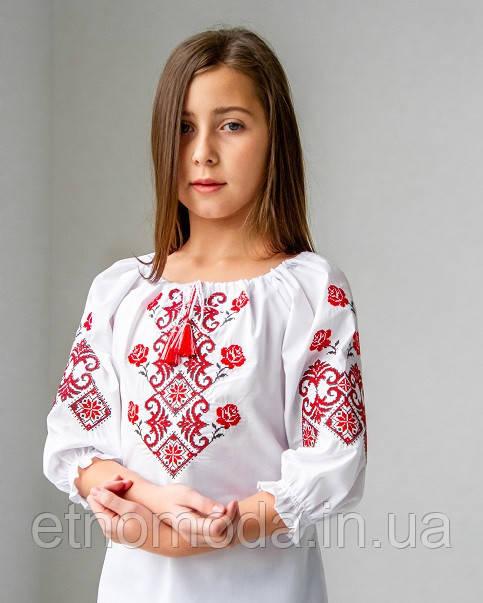 Вишиванка для дівчинки (поплін, 3/4) Марічка 122-2007