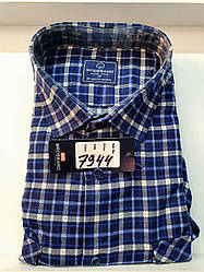 Теплая кашемировая батальная рубашка Brossard - 7944