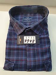Теплая кашемировая батальная рубашка Brossard - 7948