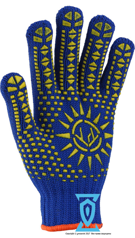 Перчатки рабочие синтетика плотная Солнце Рубеж 1061 (Украина)