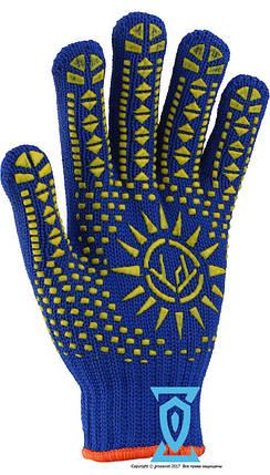 Перчатки рабочие синтетика плотная Солнце Рубеж 1061 (Украина), фото 2