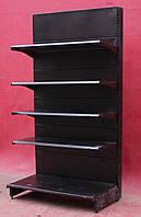 Торговые пристенные стеллажи «Колумб» 200х66 см., черные, Б/у, фото 1