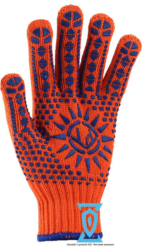 Перчатки рабочие синтетика плотная Солнце Рубеж 1062 (Украина)