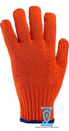 Перчатки рабочие синтетика плотная Солнце Рубеж 1062 (Украина), фото 2