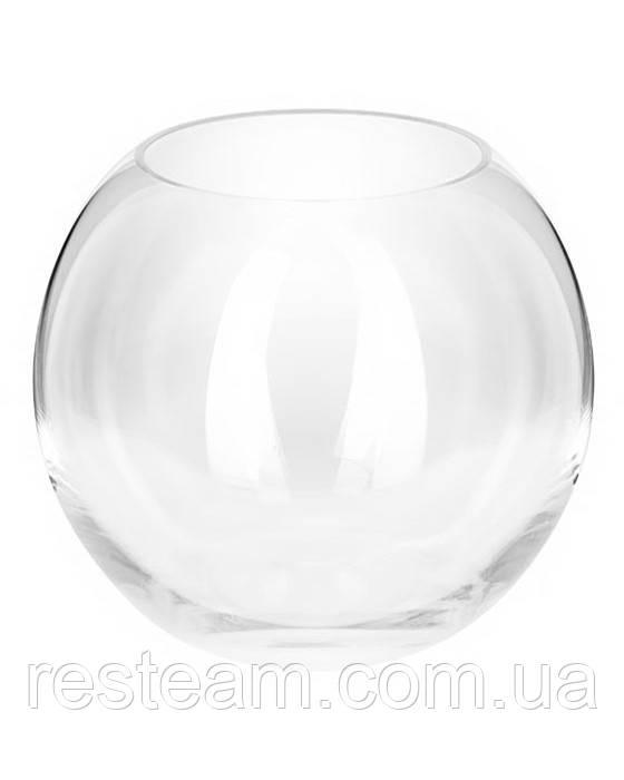 Ваза стекло шар 0,7 л (d-12см/h-9,5см) mzX017