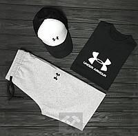 Комплект Under Armour (шорты+футболка+кепка), фото 1