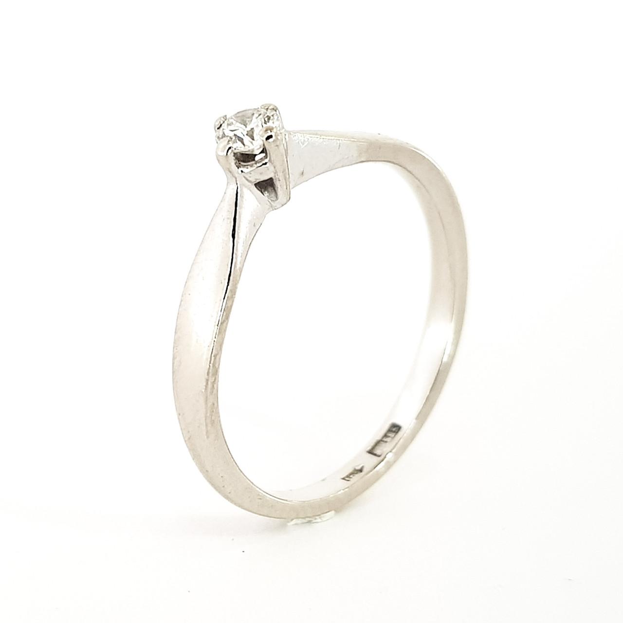 Кільце з білого золота з діамантом