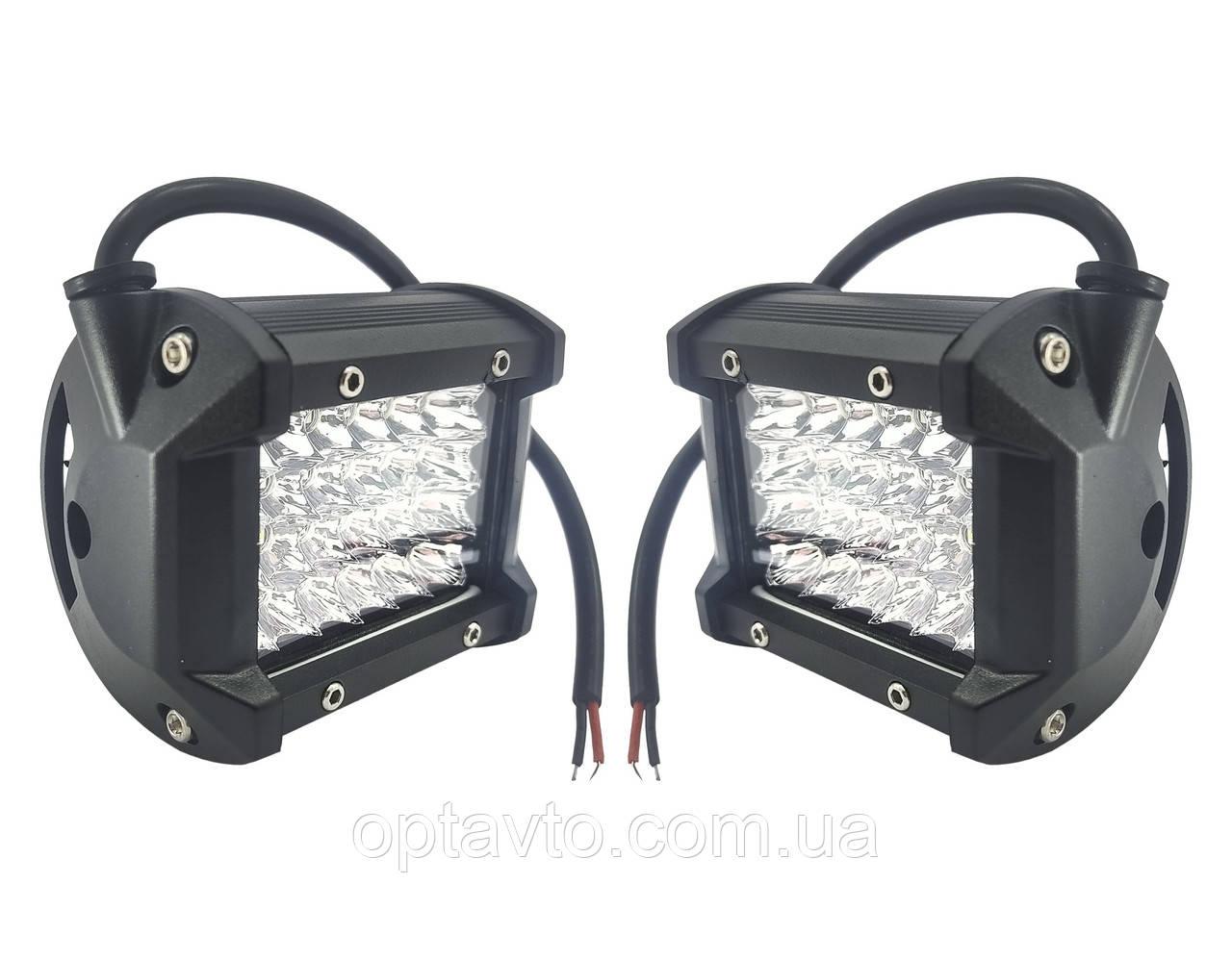 Комплект мощных прожекторных лэд фар, каждая на 24 диода. H - 72W S.12-80V. Пр-во Корея