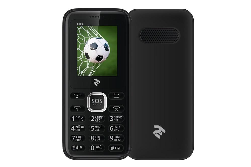 Мобильный телефон 2E S180 DualSim Black (Черный)