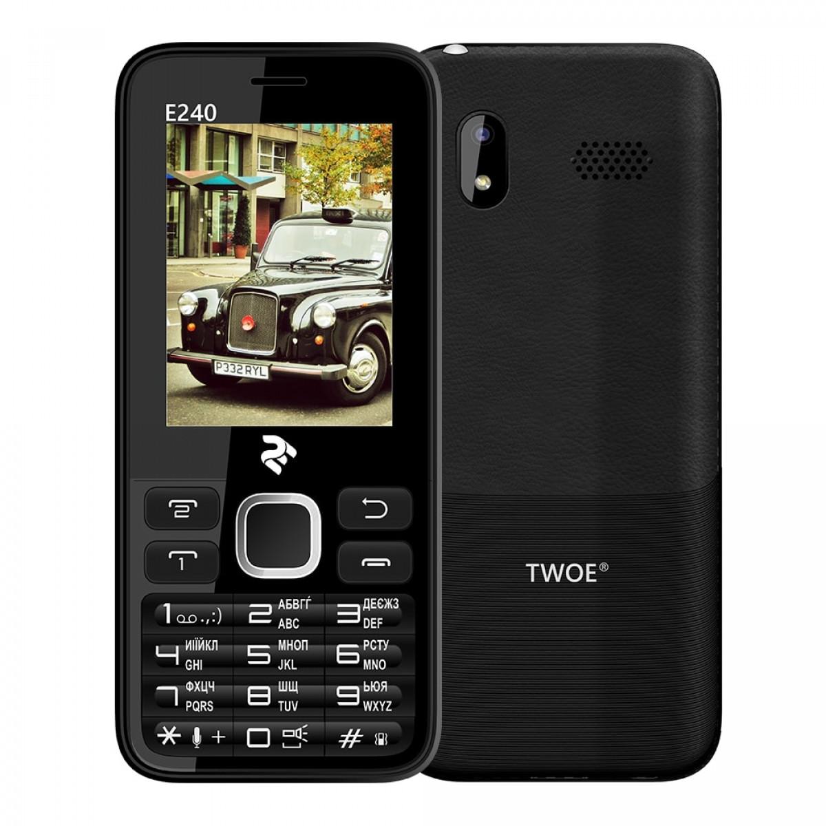 Мобільний телефон 2E E240 DualSim Black (Чорний)