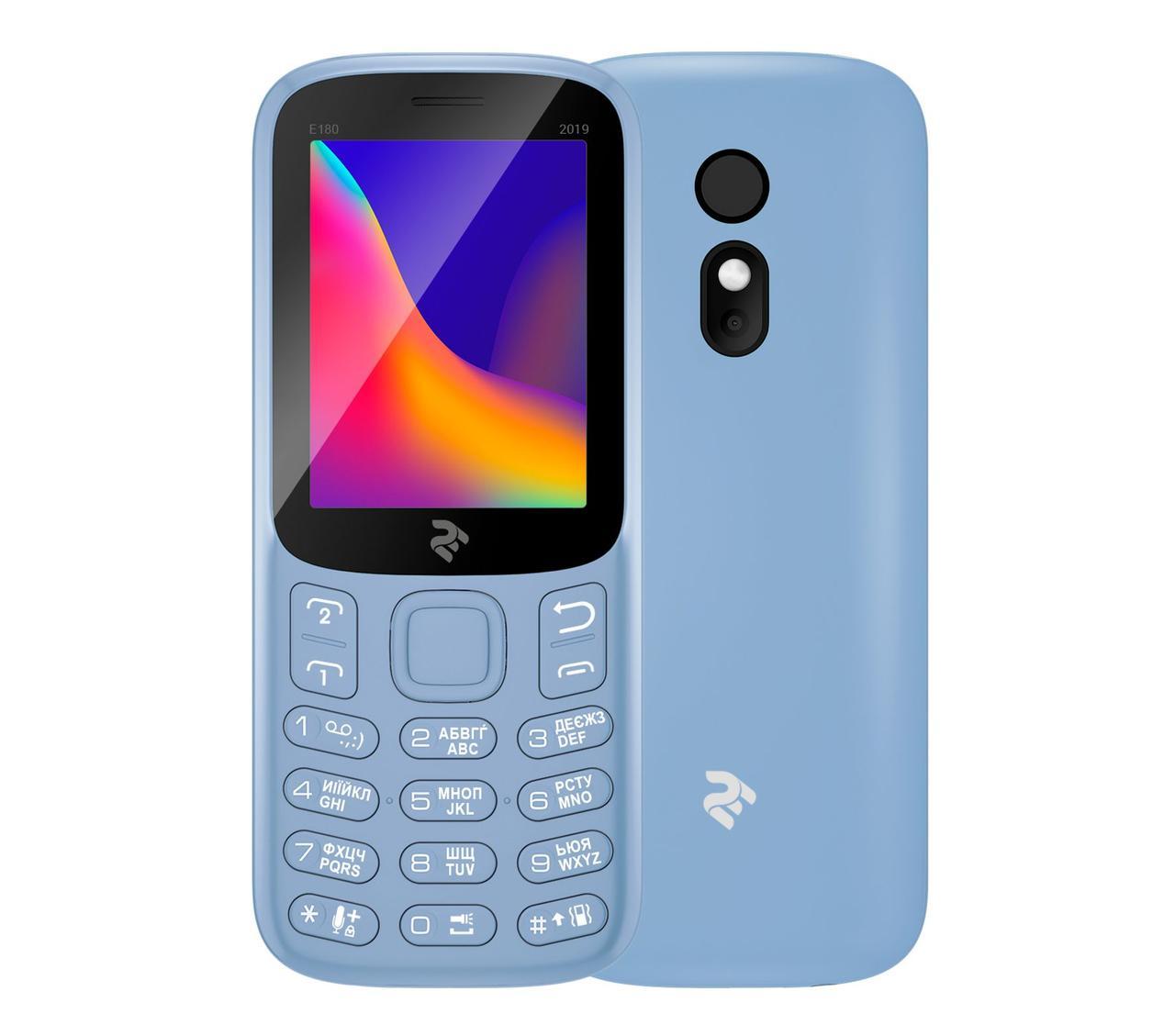 Мобільний телефон 2E E180 2019 DUALSIM City Blue (Синій)