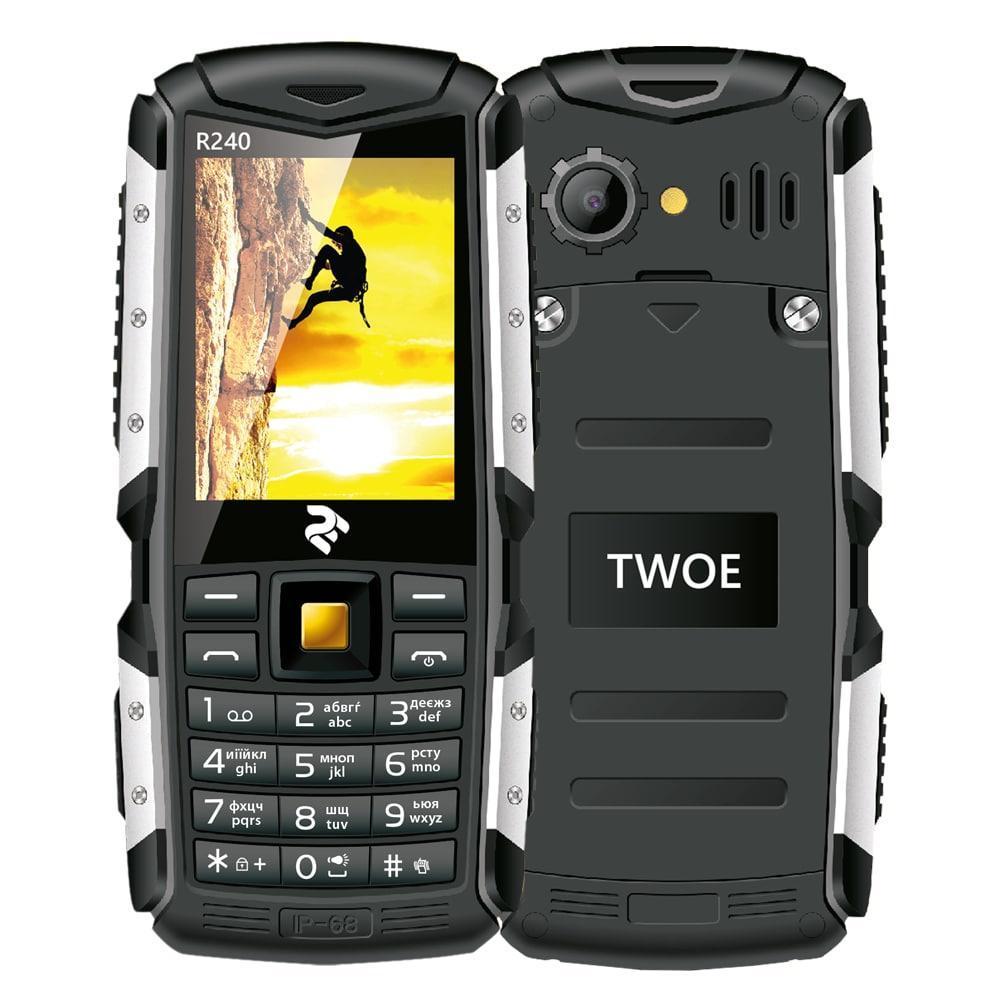 Мобильный телефон 2E R240 Dual Sim Black (Черный)