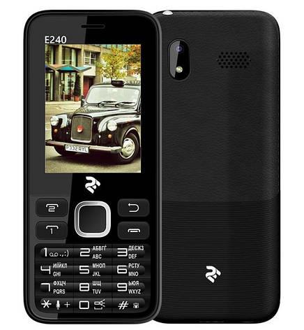 Мобільний телефон 2E E240 DualSim Black (Чорний), фото 2