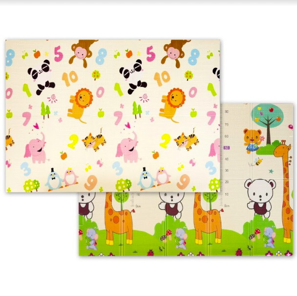 """Дитячий двосторонній килимок складний ігровий """"Тварини - Ростомір"""" 200х150 см + сумка-чохол"""