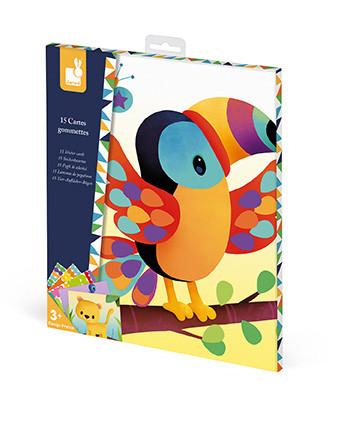 Набор для творчества Janod Карточки с наклейками Животные (J07788)