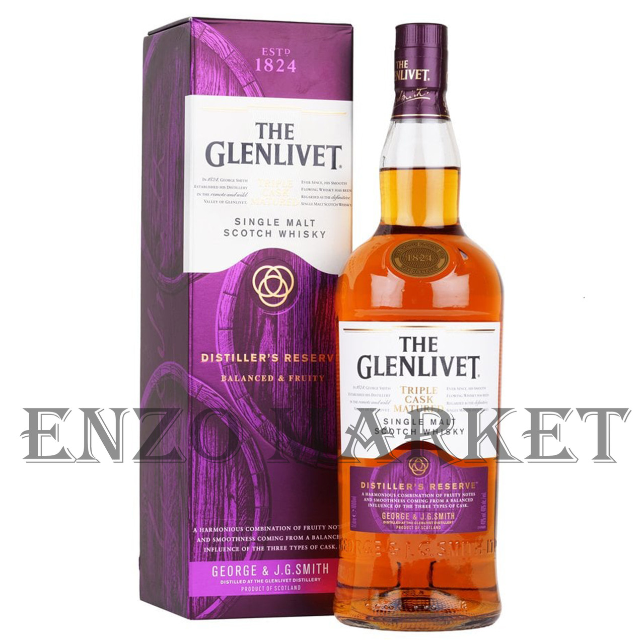 Виски Glenlivet Triple Cask Matured Distillers Reserve (Гленливет Трипл Каск Матуред) 40%, 1 литр