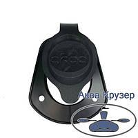 Кришка держателя вудилищ (вудочки, спінінги) для човна - ковпачок на склянку врізний, колір чорний