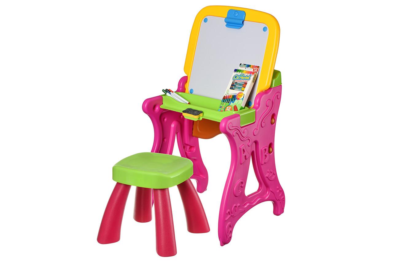 Столик-мольберт Same Toy Рожевий (8816Ut)