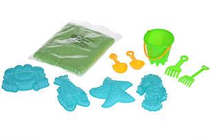 Чарівний пісок Same Toy Omnipotent Sand Морський світ 500 г 9 шт. Зелений (HT720-4Ut), фото 2