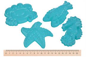 Чарівний пісок Same Toy Omnipotent Sand Морський світ 500 г 9 шт. Зелений (HT720-4Ut), фото 3