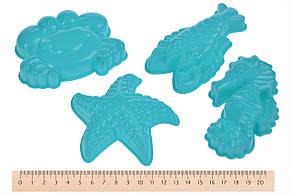 Волшебный песок Same Toy Omnipotent Sand Морской мир 500 г 9 шт. Зеленый (HT720-4Ut), фото 3
