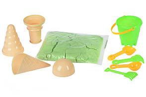 Волшебный песок Same Toy Omnipotent Sand Мороженое 500 г 9 шт. Зеленый (HT720-10Ut), фото 3