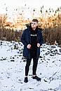Куртка чоловіча зимова з хутром, темно-синя, фото 5